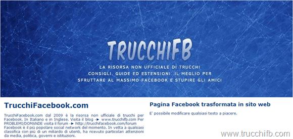 sito internet pagina facebook