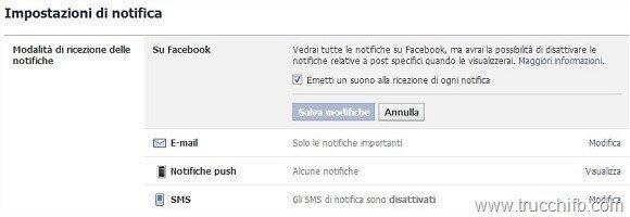 suono notifiche facebook