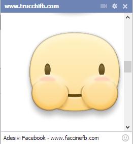 Adesivi Facebook per la chat ora disponibili anche su browser