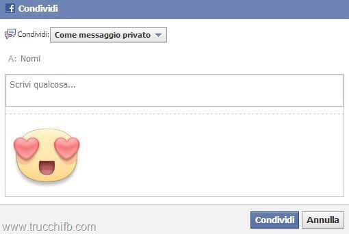 condividi sticker facebook
