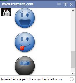 faccine facebook blu