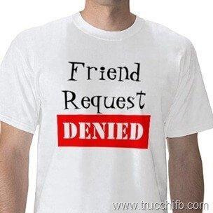 richiesta di amicizia rifiutata