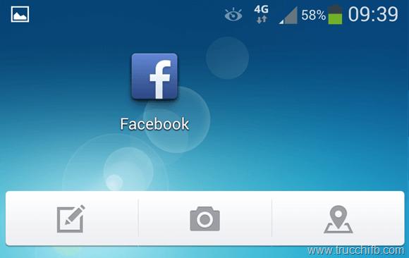 Widget facebook android