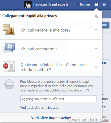 blocco persone facebook