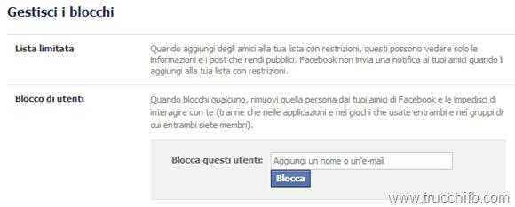 blocco utenti