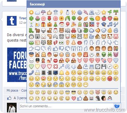 estensione per emoji nei commenti