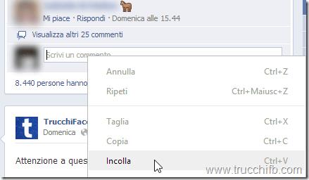 incolla emoji su Facebook