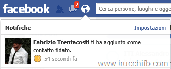 notifica contatto fidato