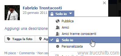 privacy immagine profilo