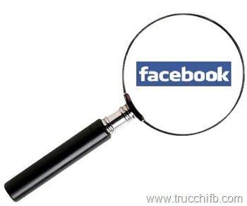 cancellare ricerche facebook