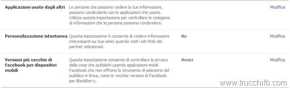 privacy applicazioni