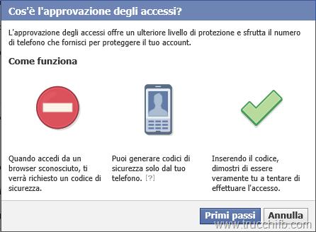 verifica due passaggi facebook