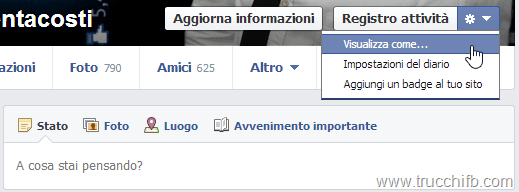 visualizza come facebook