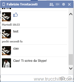 Chat da Skype su Facebook