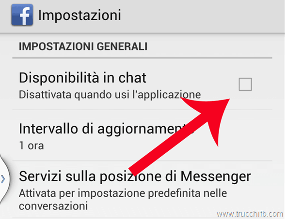Disattiva chat Android