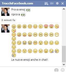 Emoji Facebook in chat