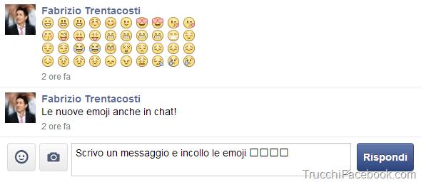 Messaggio con emoji