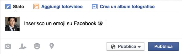 incollare emoji su facebook