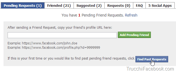 Find past requests