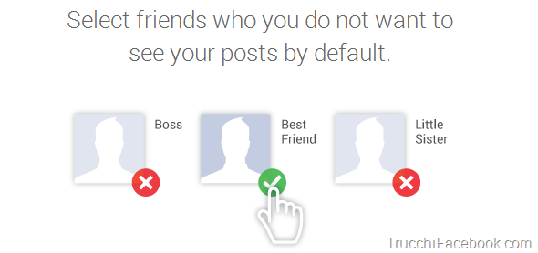 Seleziona privacy amici