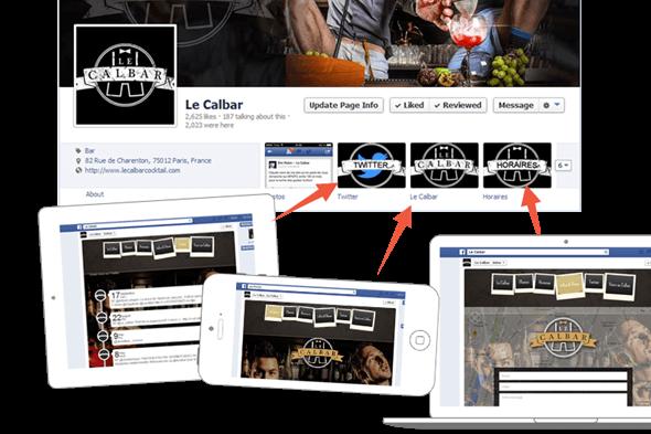 Facebook sito web app