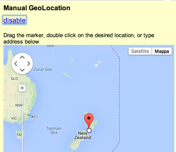 Manual Geolocation