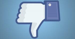 facebook-non mi piace