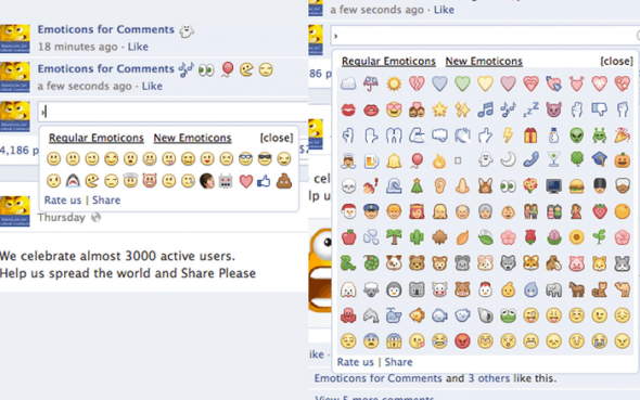 emoticon emoji commenti facebook
