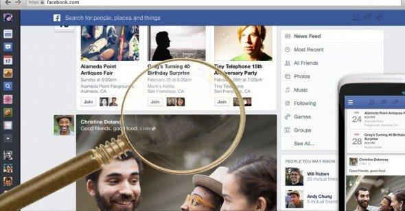 sezione notizie facebook