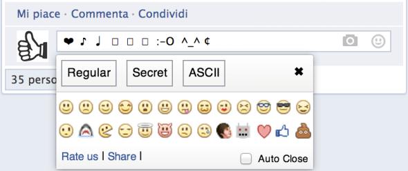 simboli emoji commenti