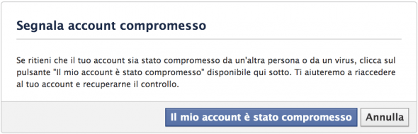 Account Facebook compromesso