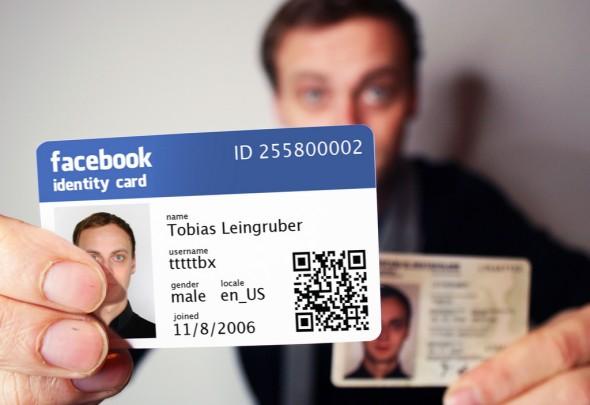 carta identita facebook