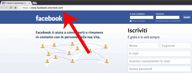 Rubare password su Facebook con fake-login