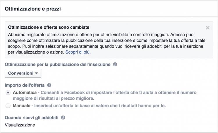 nuovo ocpm facebook