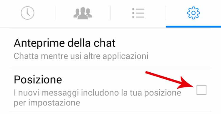 posizione-messenger-android