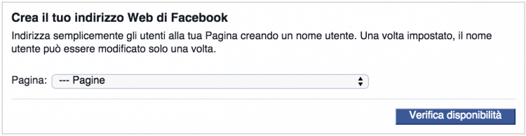 nome utente pagina facebook