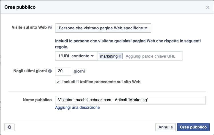 retargeting-facebook-pagine-web-specifiche