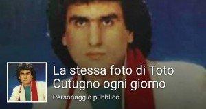 Il successo della stessa foto di Toto Cutugno su Facebook