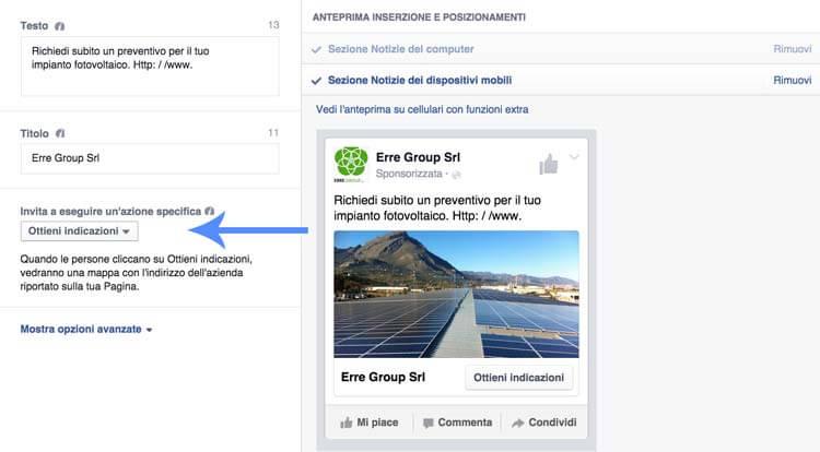 Come raggiungere persone vicine ad un 39 azienda su facebook for Come trovare un buon costruttore nella tua zona