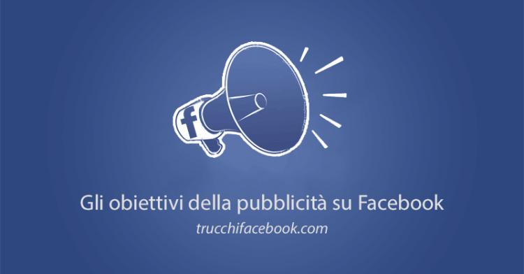 Obiettivi pubblicita Facebook