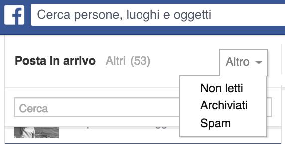 Altri messaggi Facebook