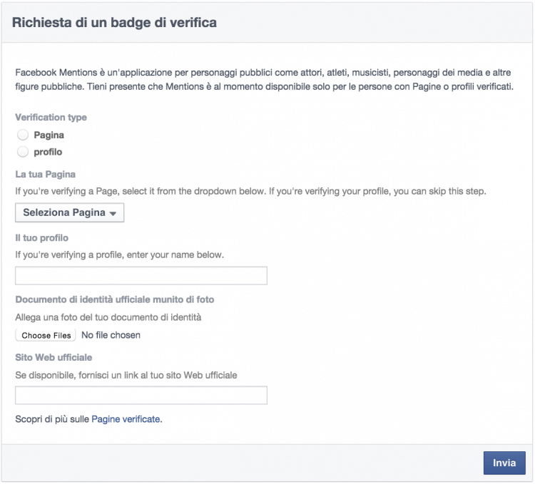 richiesta badge verifica