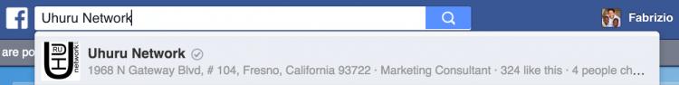 badge pagina ricerche facebook