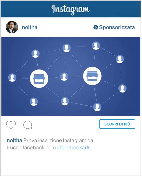 inserzione instagram facebook ads