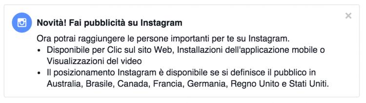 pubblicita su instagram