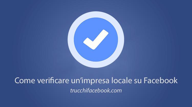 Come verificare un'impresa locale su Facebook