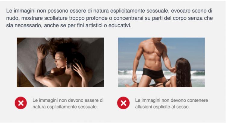 immagini sesso facebook ads