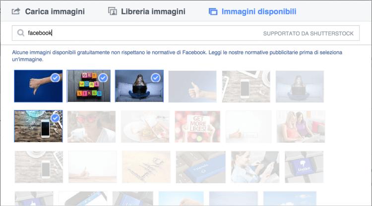 immagini shutterstock facebook ads