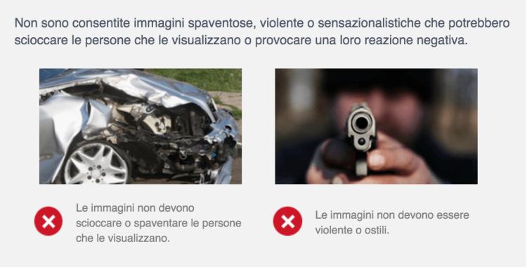 immagini violente facebook ads
