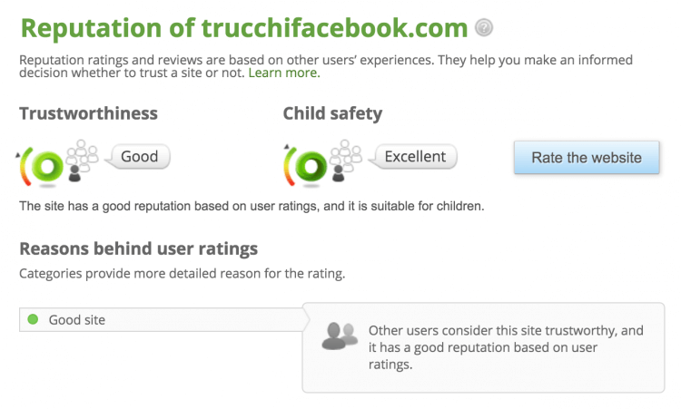rating trucchifacebook